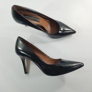 Steven steve madden leather  heels size 8.5